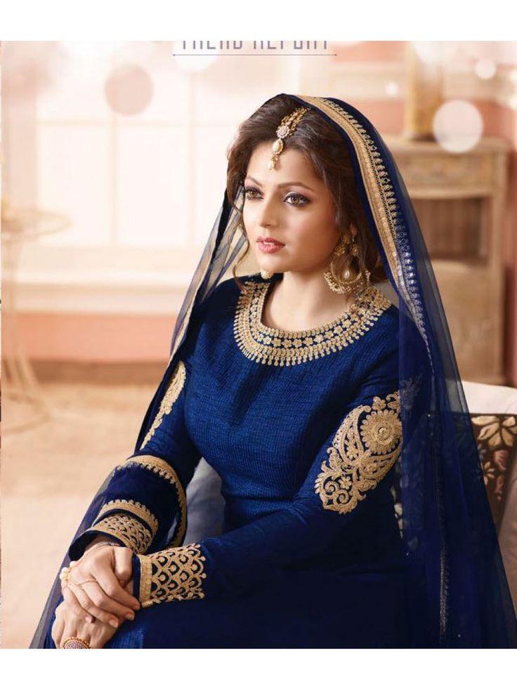 Drashti Dhami Navy Blue Anarkali Suit