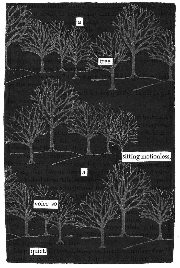 Motionless | Black Out Poetry | C.B. Wentworth