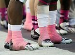 Ankle tape can be sticky situation in college football