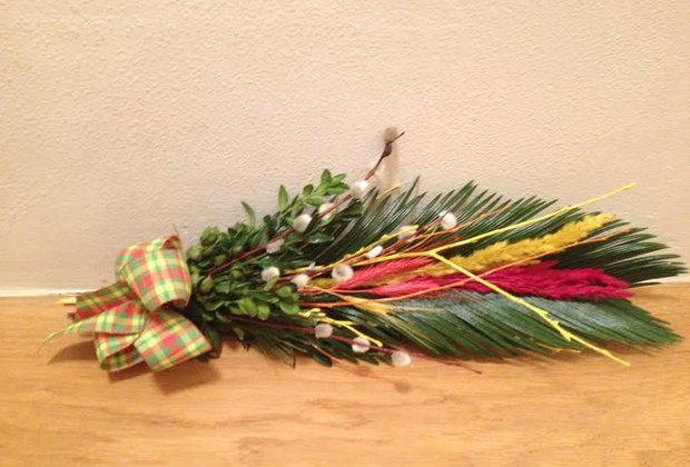 Propozycje świątecznych palm i ozdób
