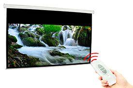 Telón para proyector electrico 274x208