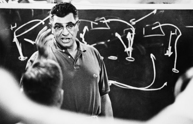 The Best Quotes from Legendary Football Coach Vincent Lombardi: Vince Lombardi coaching the Green Bay Packers