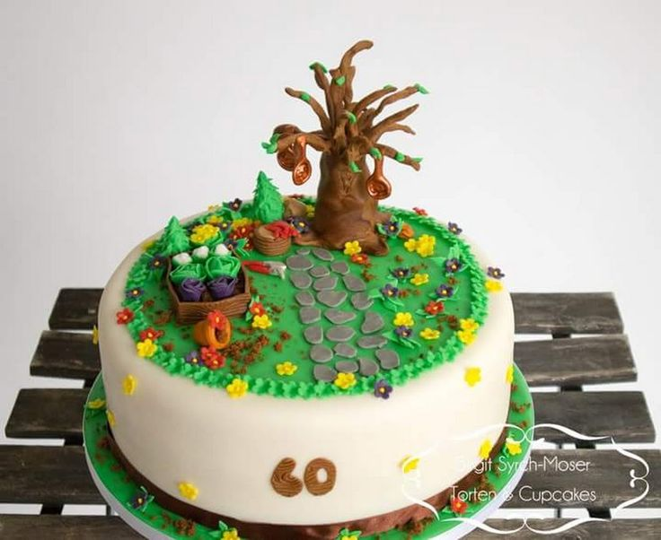 Birthday Cake, Gardener, Gardening - Birgit Syrch-Moser - Google+