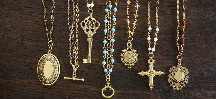 semi-precious stones. ExVoto Vintage Jewelry