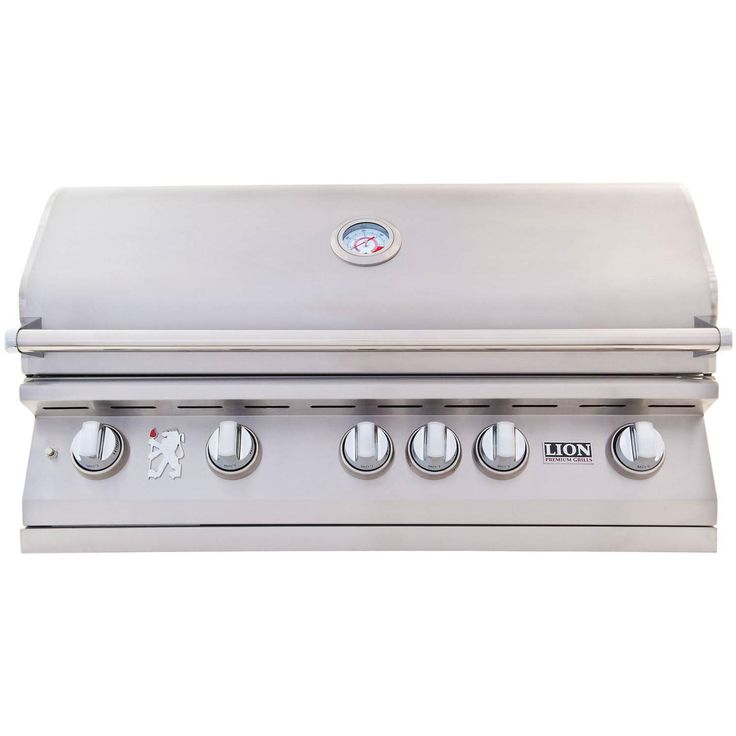 Lion 40-Inch L90000 Stainless Steel Built-In Natural Gas BBQ Grill available at BBQ Guys. Lion demonstrates their gourmet grilling...