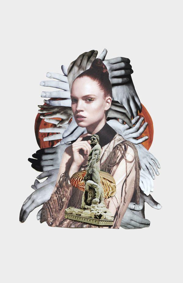 DANSK fashion collages by Anjela Freyja, via Behance