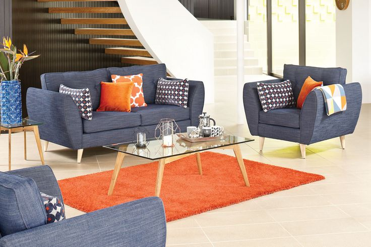 This modern retro lounge suite just sings out with European style and sophistication.