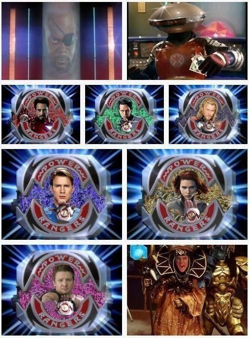 The Avengers as Power Rangers! - Imgur