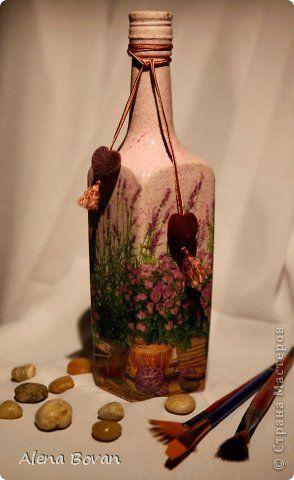 Декор предметов Декупаж ДЕКУПАЖ бутылочки новые и старые  Бутылки стеклянные Салфетки фото 22