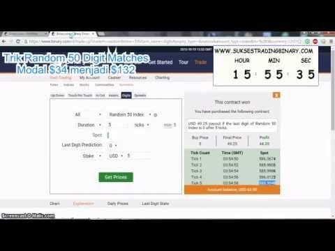 Trik Binary.com Digit Matches Random 50 Perulangan Angka kembar ~ Gratis Panduan Sukses Trading Binary.com