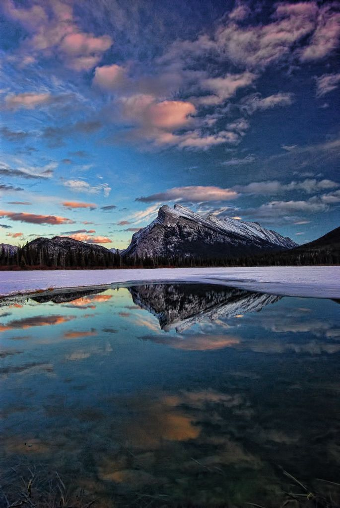Rundle Mountain, Banff National Park, Alberta, Canada