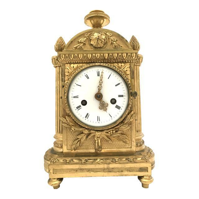 Image of 1776 Antique French Bronze Mantel Clock
