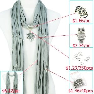 Amazon to the rescue--DIY Scarf Accessories, Variety Pendants Charm Jewelry Scarf, Necklace Pashmina