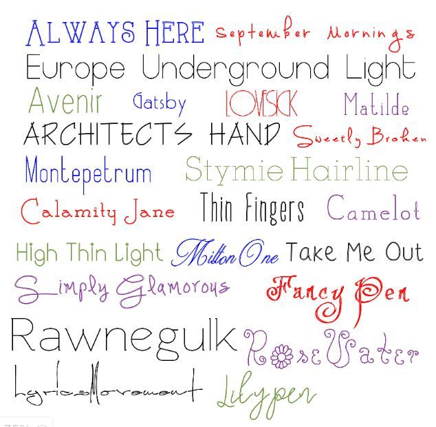 FREE Single Line Fonts That Will Write without bubbling In Cricut