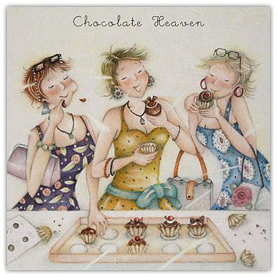 Chocolate Heaven Berni Parker Designs Card  £2.75 -FREE Postage