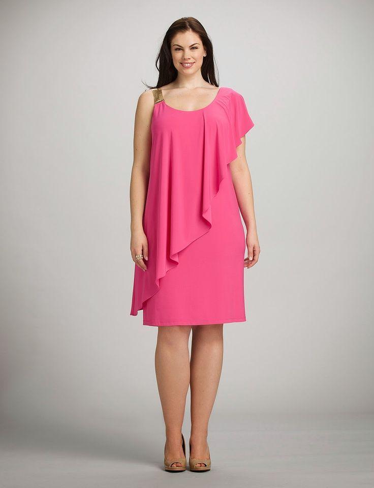 Vestido rosa para gorditas con capa