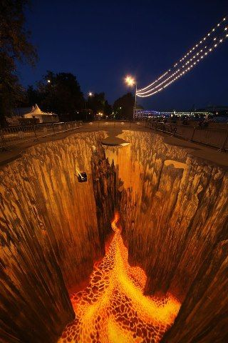 Amazing 3D street art                                                                                                                                                      More