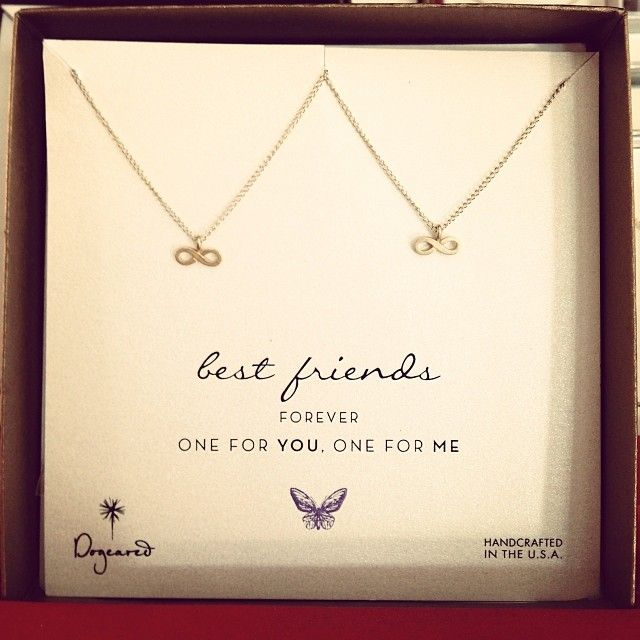 best friend necklaces #dogeared #infinity #BFF / image via: @jwgrahamyes