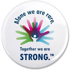 "Logo 3.5"" Button > Alone we are rare. Together we are strong. > NORD Rare Disease Day Store"