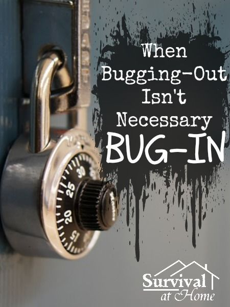 When Bugging-Out Isn't Necessary - Bug-In! #Bug-Out, #Bugin