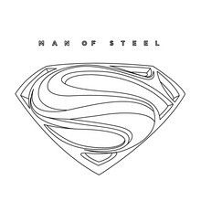 SUPERMAN online coloring page - Coloring page - SUPER HEROES Coloring Pages - SUPERMAN coloring pages