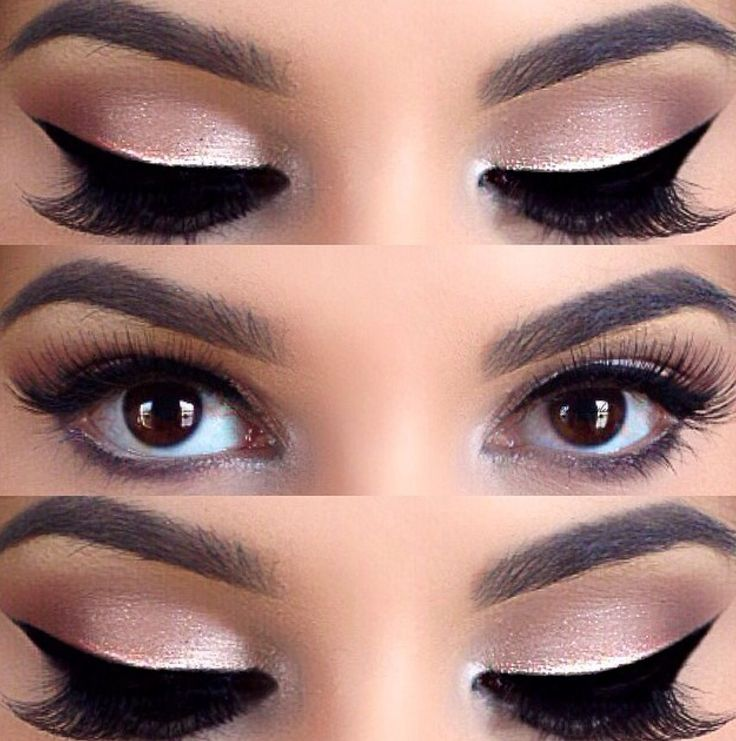 Sharp, clean, dramatic lines and omg I love that pop of light. I'd wanna do that (Maybe like half the eye with tapers) in gold for this if we can.