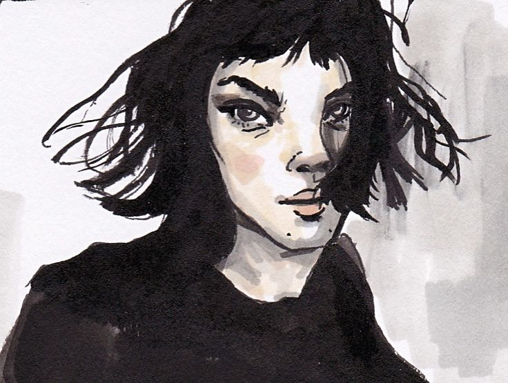 The wonderful Vittoria Ceretti. #drawing #penandink