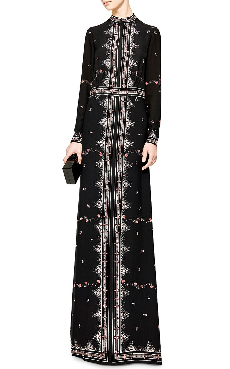 Florence Printed Silk-Crepe Maxi Dress by Vilshenko - Moda Operandi