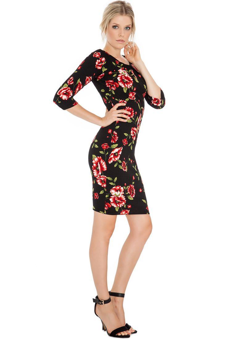 FLORAL PRINT TEXTURED DRESS #floralprint #citygoddess #citygoddesswholesale #wholesale #casualdress #fashion #dress