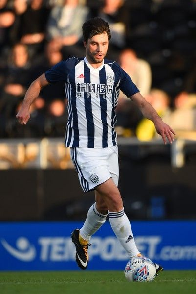 Claudio Yacob of West Bromwich Albion in action during the pre season friendly match between Burton Albion and West Bromwich Albion at Pirelli Stadium on July 26, 2017 in Burton-upon-Trent, England.