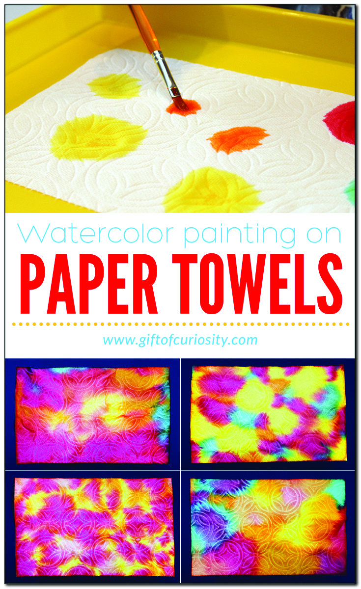 Watercolor Painting On Paper Towels Toddler Art Preschool Art