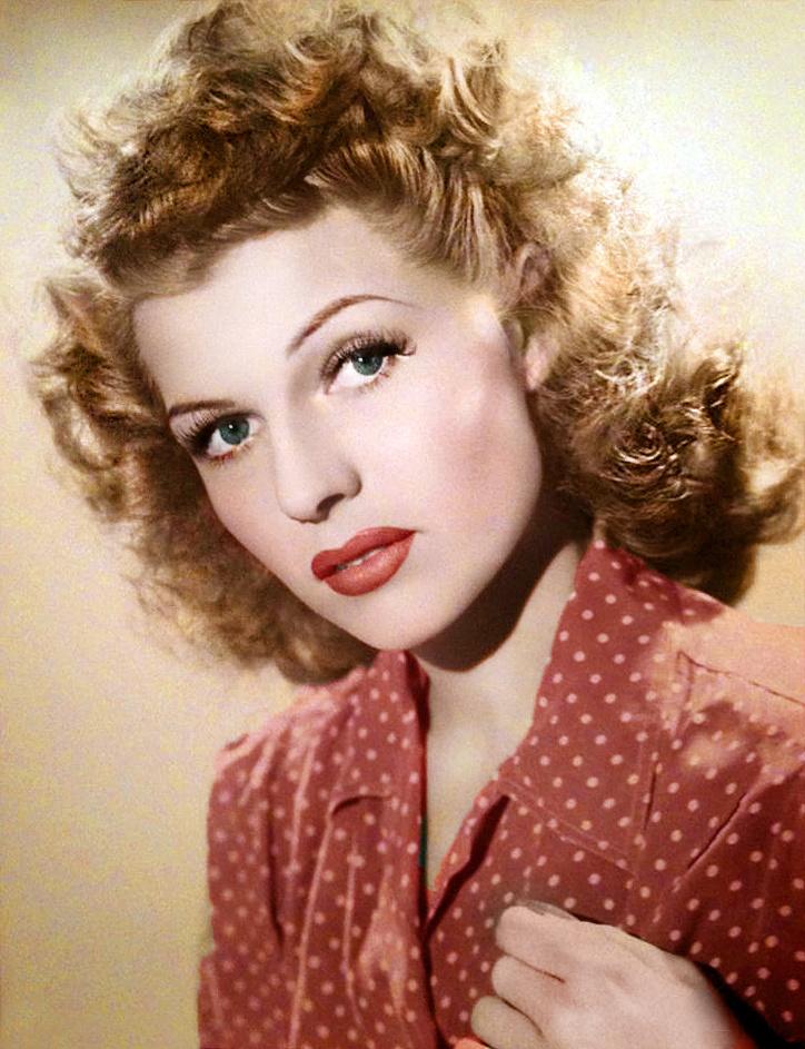 Rita Hayworth again in polka-dots