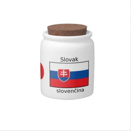 Slovak Language And Slovakia Flag Design Candy Dishes - decor gifts diy home & living cyo giftidea
