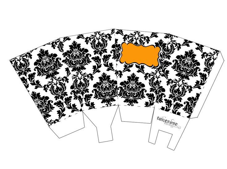 Free printable popcorn box halloween damask =) Gratis print - Popcornbeger Halloween GMN damask copy