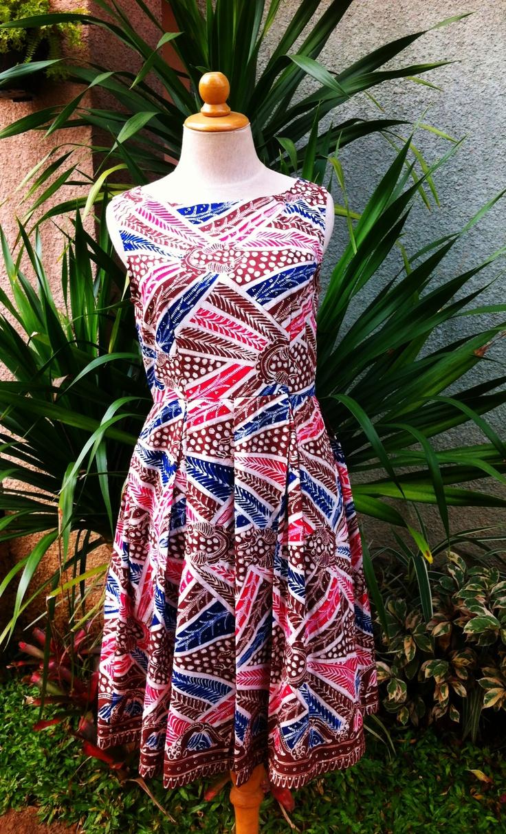 Gigi dress made of batik tulis indramayu