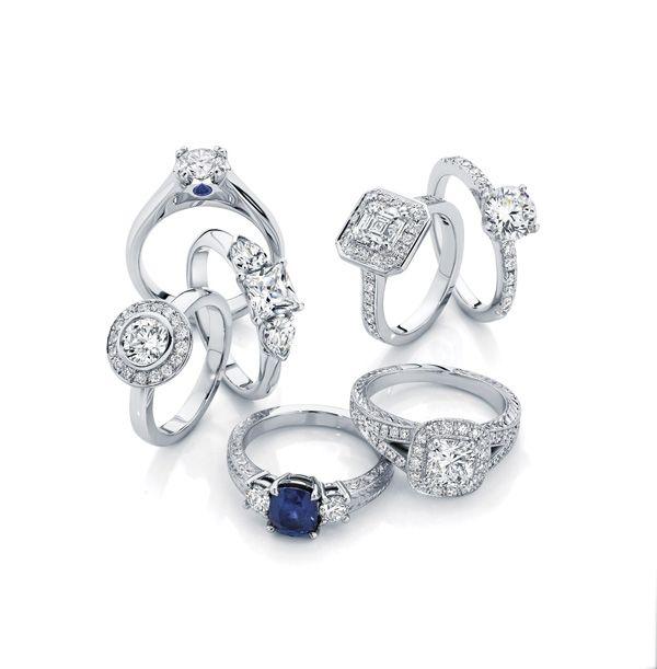 A fabulous collection of Larsen Jewellery's custom made engagement rings  www.larsenjewellery.com.au