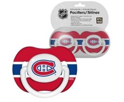 Montreal Canadiens Pacifiers - we've admired these at Canadian Tire numerous times, but they don't do us much good if we don't have a baby haha