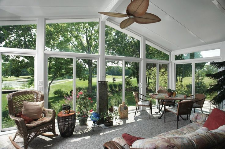 Wouldn't you love to beat the heat in this comfy #sunroom this summer? Ahhh....