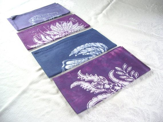 purple hand-dyed napkins