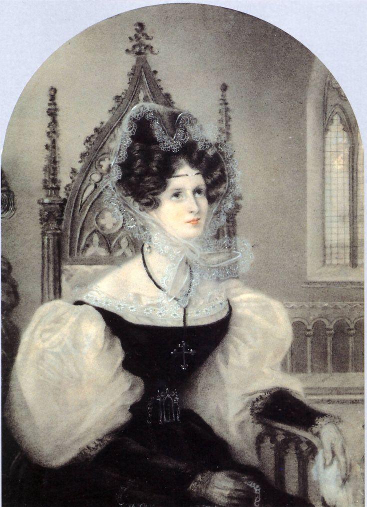 Portrait of Zinaida Volkonskaya by Amelie Munier-Romilly, 1831 Italy