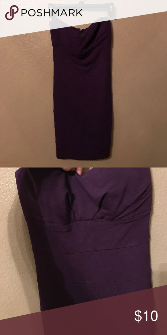 Strapless Purple Body Con Dress Strapless Deep Purple Body Con Dress with Some Boob Padding Forever 21 Dresses Mini
