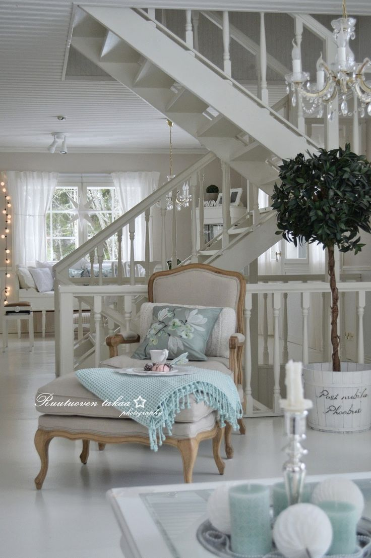 This setting perfectly captures the refined white interior look; with injections of complementary pastel tones.