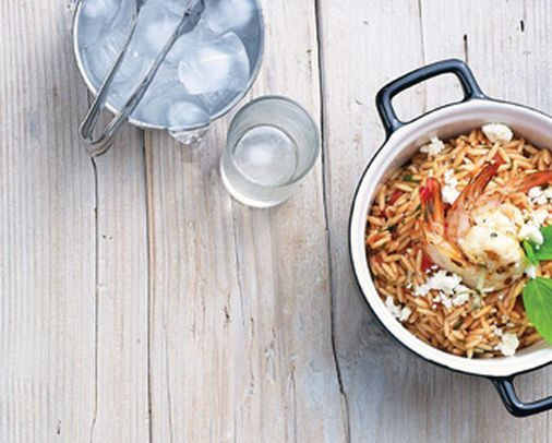 VISIT GREECE| Shrimp with Orzo
