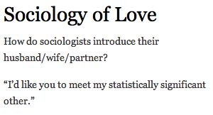 Love // Sociology // Joke