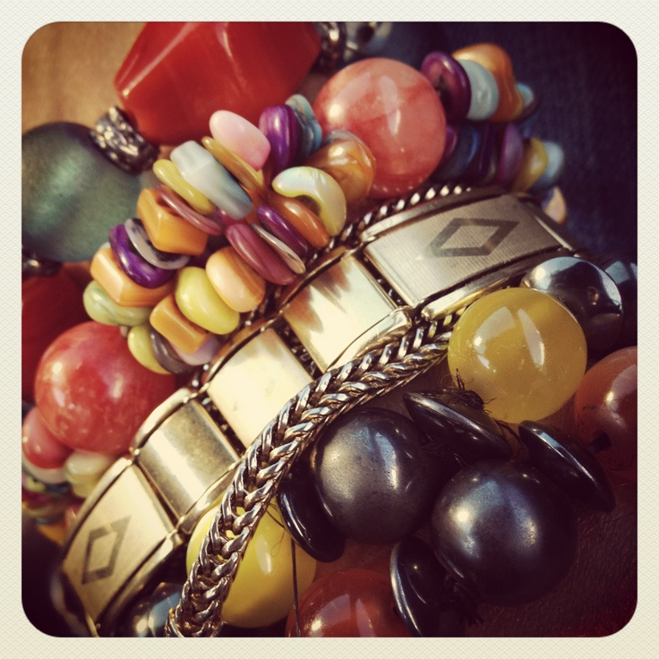 The wrist of a fashion editor! Always colourful with ideas...