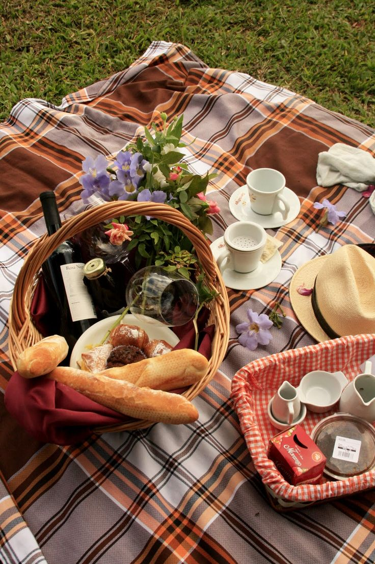 Picnic...This makes me want to be outside so badly...I'm so tired of winter!
