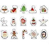 LIHAO Fondant Ausstecher 22 tlg Ausstechformen Auswerfer Stempel Tortendeko Weihnachten Dekoration Keks Backen: Amazon.de: Küche & Haushalt