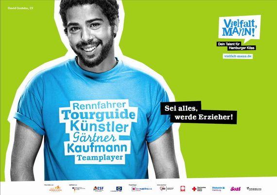 Berufsbilder gegen den Kamm gebürstet: Vielfalt Mann! Aktion für mehr männliche Erzieher in Hamburger Kitas | Recrutainment Blog
