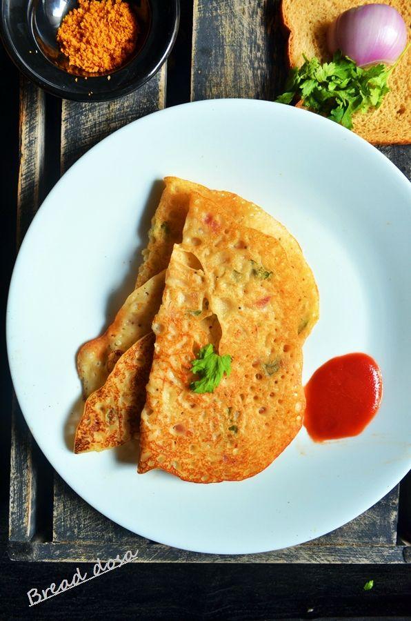 Breakfast ideas toddlers and kids: Bread dosa, recipe @ http://cookclickndevour.com/bread-dosa-recipe  #cookclickndevour #recipeoftheday #breakfast