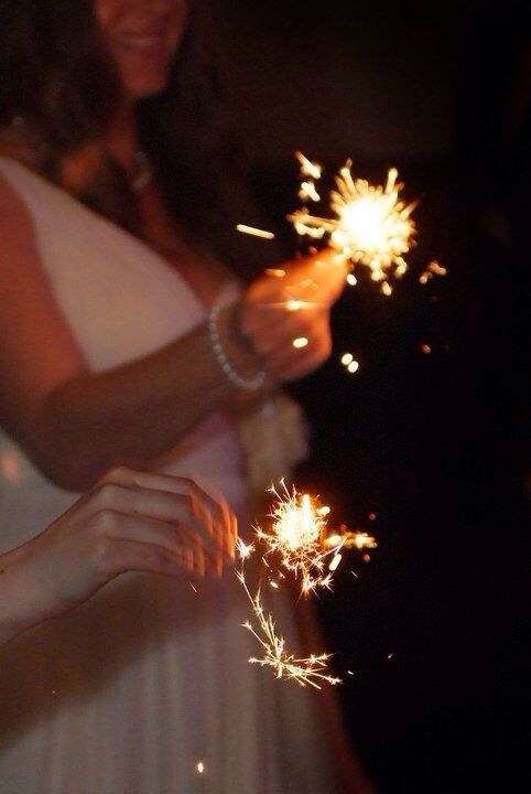 Sparklers as we took to the floor for our 1st dance